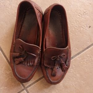 Cole Haan Brown Tassel Loafers. Size 9M